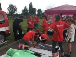Die Erste Hilfe Station war den ganzen Tag gut besucht.